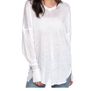 Free People Never Give Up White Tunic size S NWT